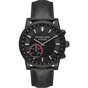 Michael Kors Black Leather Smartwatch MKT4025